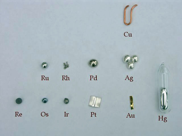 metales nobles
