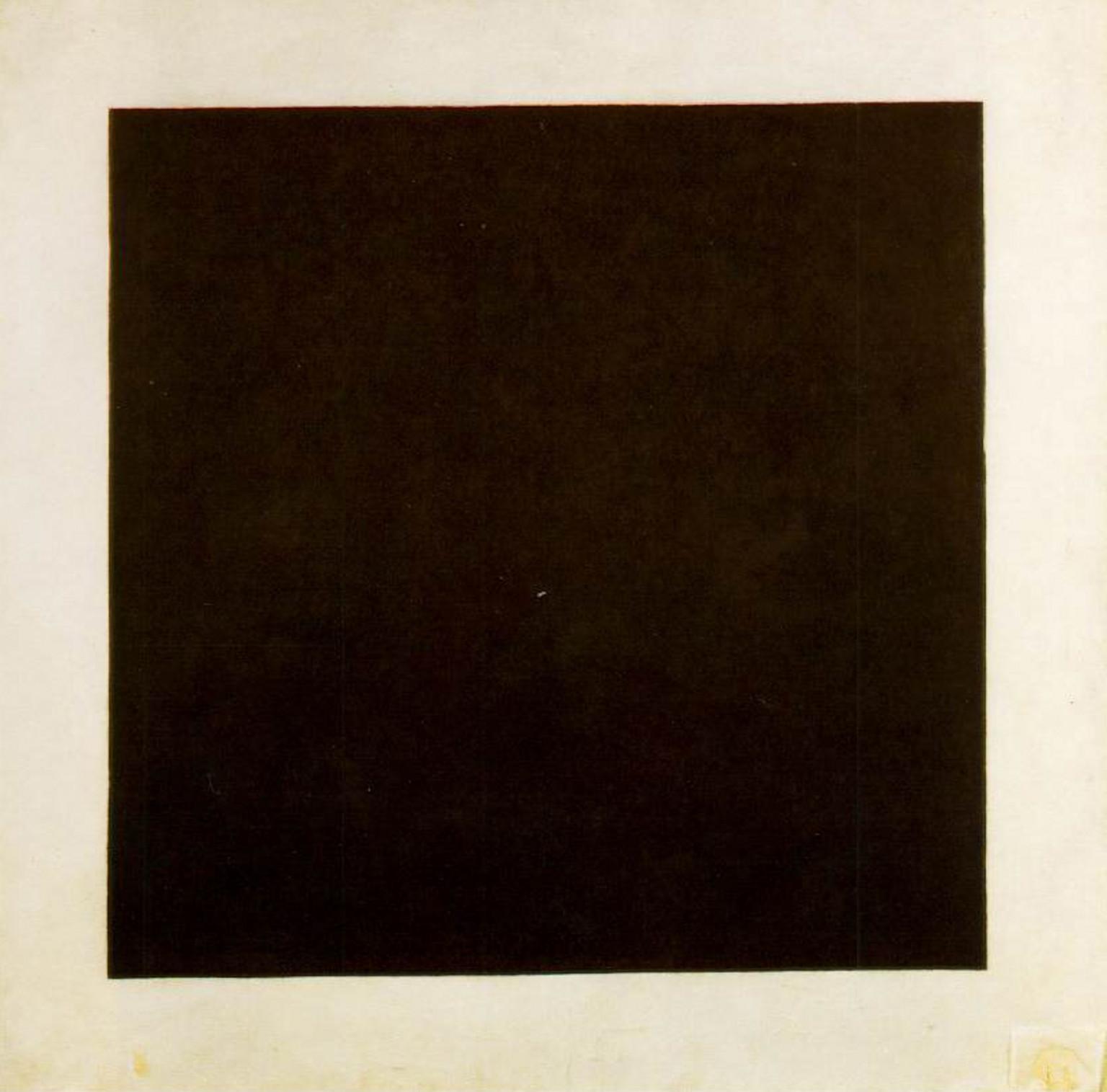 Cuadrado negro sobre fondo blanco. Kasimir Malevich, 1913. Óleo sobre tela (106,2 x 106,5 cm)